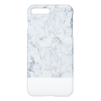 Modern blue white trendy marble texture pattern iPhone 7 plus case