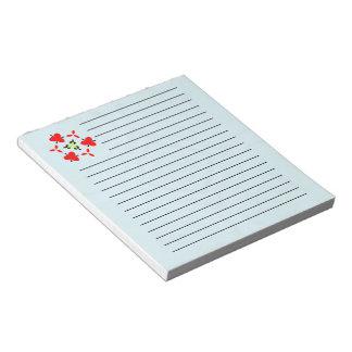 Modern blue wood pattern notepad