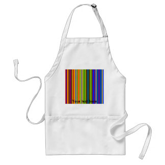 Modern blue yellow green red stripes adult apron