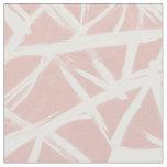 Modern blush pink abstract geometric brushstrokes fabric