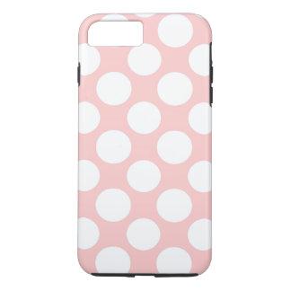 Modern Blush Pink White Polka Dots Pattern iPhone 8 Plus/7 Plus Case