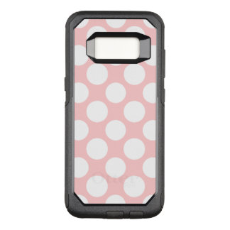 Modern Blush Pink White Polka Dots Pattern OtterBox Commuter Samsung Galaxy S8 Case