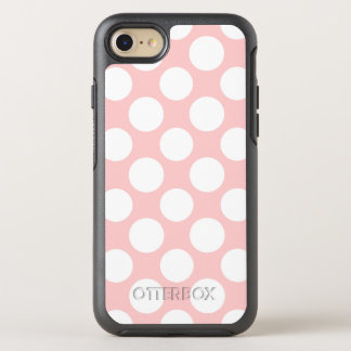 Modern Blush Pink White Polka Dots Pattern OtterBox Symmetry iPhone 7 Case
