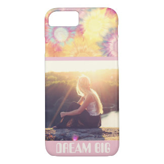 Modern boho filter custom photo and name iPhone 8/7 case