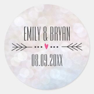 Modern Bokeh Wedding Sticker