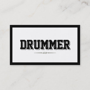 Drummer business cards business card printing zazzle uk modern bold border drummer business card colourmoves