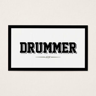 Drummer business cards business card printing zazzle uk modern bold border drummer business card colourmoves Image collections