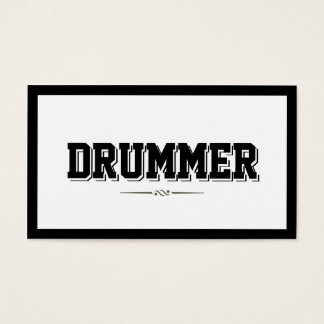 Modern Bold Border Drummer Business Card