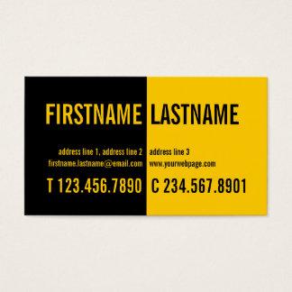 Modern Bold Contrast Black Yellow Profile Card