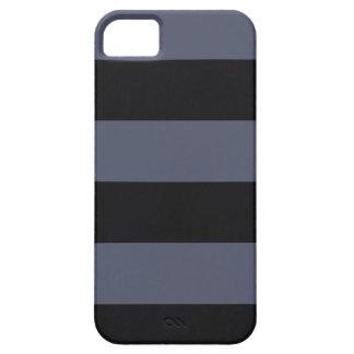 Modern Bold Dark Blue Stripes iPhone 5 Case