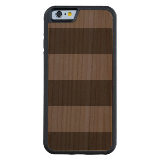 Modern Bold Dark Blue Stripes Wood Case Carved® Cherry iPhone 6 Bumper