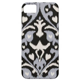 Modern bold grey black ikat tribal pattern iPhone 5 cover