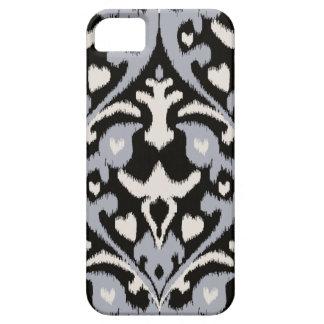 Modern bold grey black ikat tribal pattern iPhone 5 covers