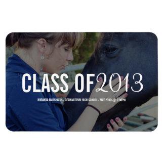 Modern Bold Text Photo Graduation Magnet