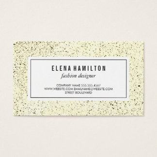 Modern Border Speckled Pattern Business Card