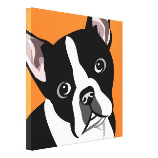 Modern Boston Terrier Canvas Prints