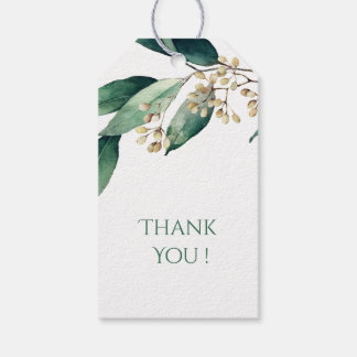 Modern botanical greenery rustic couple gift gift tags