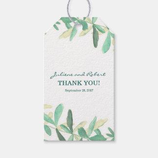 Modern Botanical Greenery Wedding Thank You Gift Tags