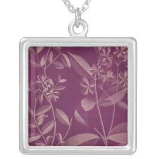 Modern Botany III Silver Plated Necklace
