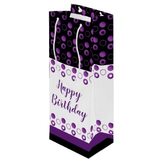 Modern Bottle Bag With Polka-dots in Purples