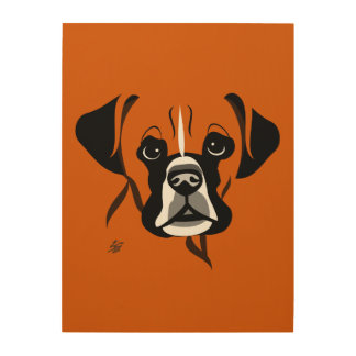 Modern Boxer Dog Art
