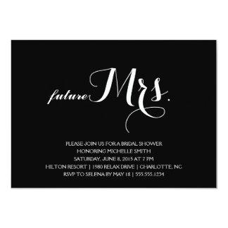 "Modern Bridal Shower Invitation 4.5"" X 6.25"" Invitation Card"