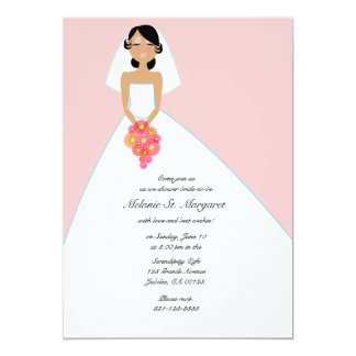 modern bride BRIDAL SHOWER invitation PINK 4