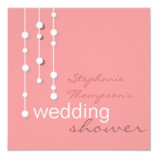 Modern Bride Wedding Shower Invitation