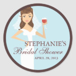 Modern Bride Wine Theme Bridal Shower Favor Stickers