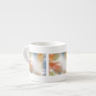 Modern Bright Abstract Light Beams and Sparkles Espresso Mug