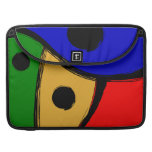 Modern bright Abstract shapes Sleeve For MacBook Pro