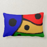 Modern bright Abstract shapes Pillow