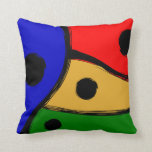 Modern bright Abstract shapes Throw Pillow