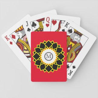 Modern Bright and Bold Monogram Poker Deck