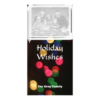 Modern Bright Christmas Frame Family Photo Insert Photo Cards
