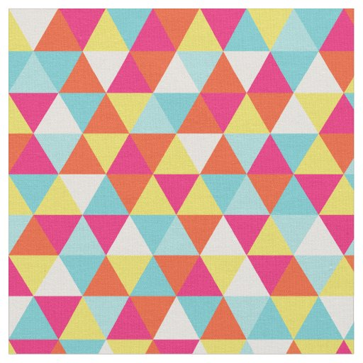 Modern Bright Colours Geometric | Fabric