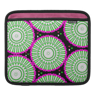 Modern Bright Fresh Abstract Floral Graphic iPad Sleeve