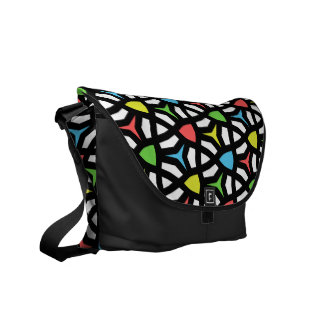Modern Bright Geometrical Pattern in contemporary Commuter Bag