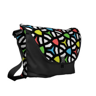 Modern Bright Geometrical Pattern in contemporary Courier Bags