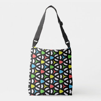 Modern Bright Geometrical Pattern in contemporary Tote Bag