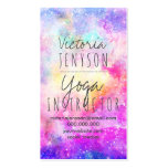 Modern bright pastel nebula watercolor yoga pack of standard business cards