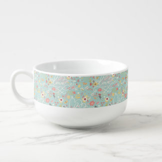 Modern Bright Romantic Pattern Soup Mug