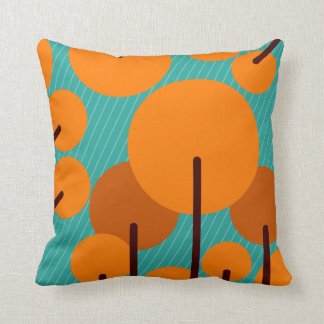 Modern Bright Trees Cushion Pillow Minimalist