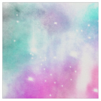 Pastel watercolor fabric for Nebula fabric uk