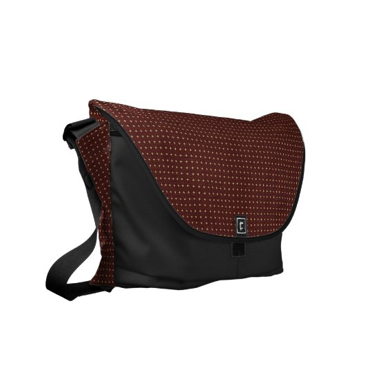 Modern Browen_Black Messenger Bag Outside Print