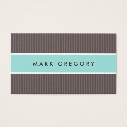 Modern brown and aqua blue professional profile business card