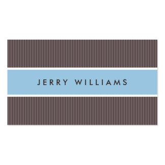 Modern brown and blue professional profile pack of standard business cards