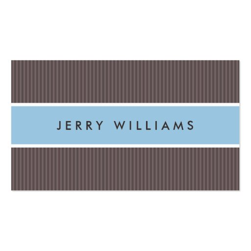 Modern brown and blue professional profile business card