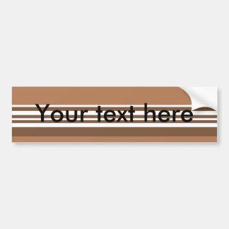 Modern brown and white stripes bumper sticker
