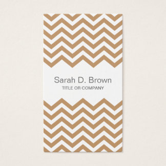 Modern brown chevron pattern business card
